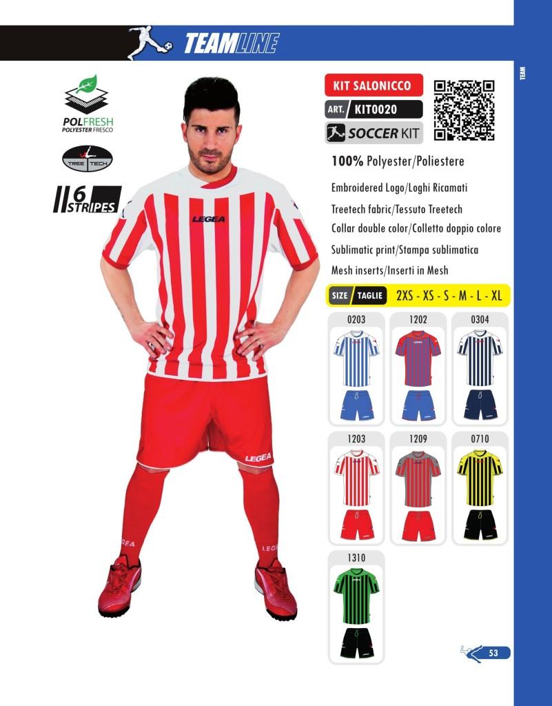 Komplety piłkarskie Legea Kit Salonicco