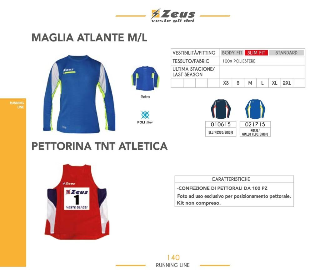 Stroje do biegania Maglia Atlante M/L i Pettorina TNT Atletica