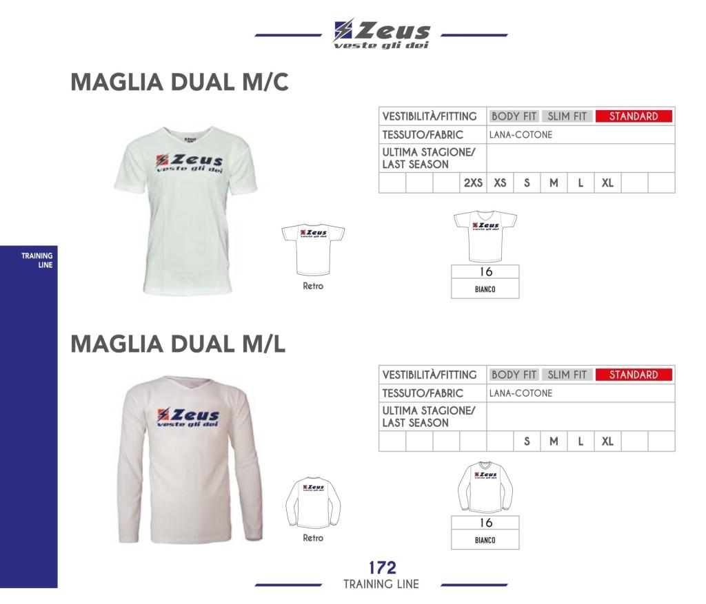 Odzież treningowa Zeus Maglia Dual M/C i M/L