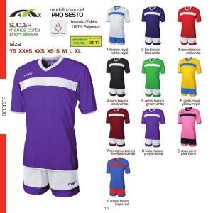 Komplety piłkarskie Max Pro Sesto