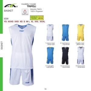 Komplety koszykarskie Max Tripoli