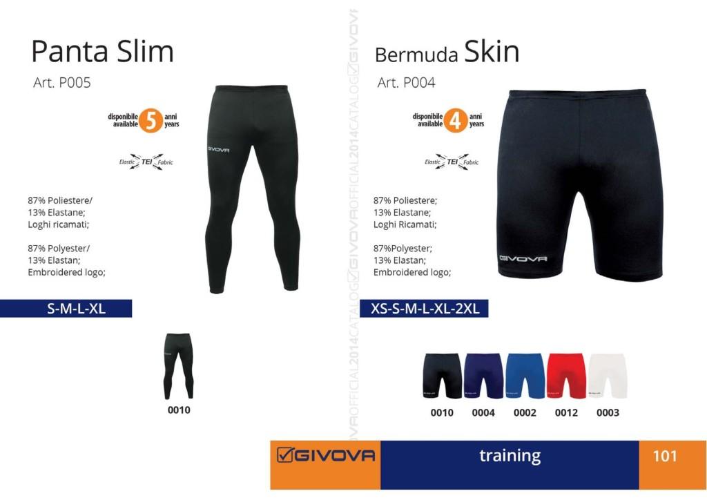 Odzież treningowa Givova Panta Slim Bermuda Skin