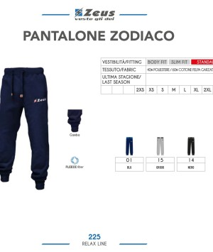 Odzież Zeus Relax Pantalone Zodiaco