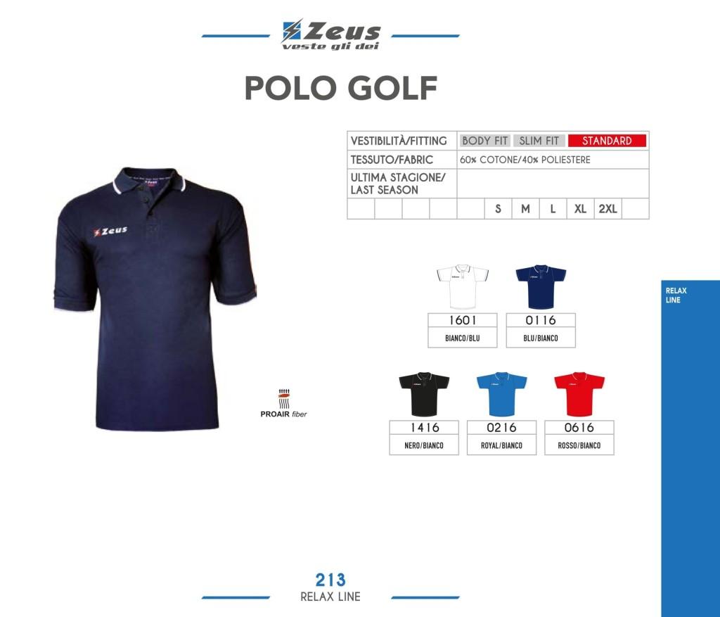 Odzież Zeus Relax Polo Golf