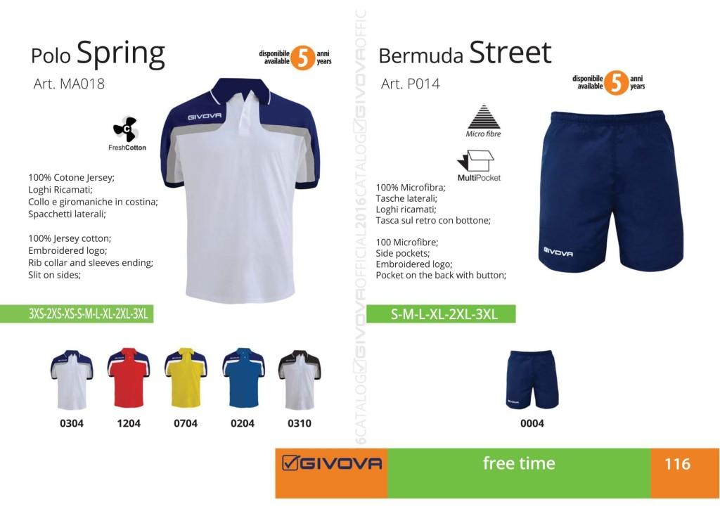 Odzież Givova Relax Polo Spring i Bermuda Street