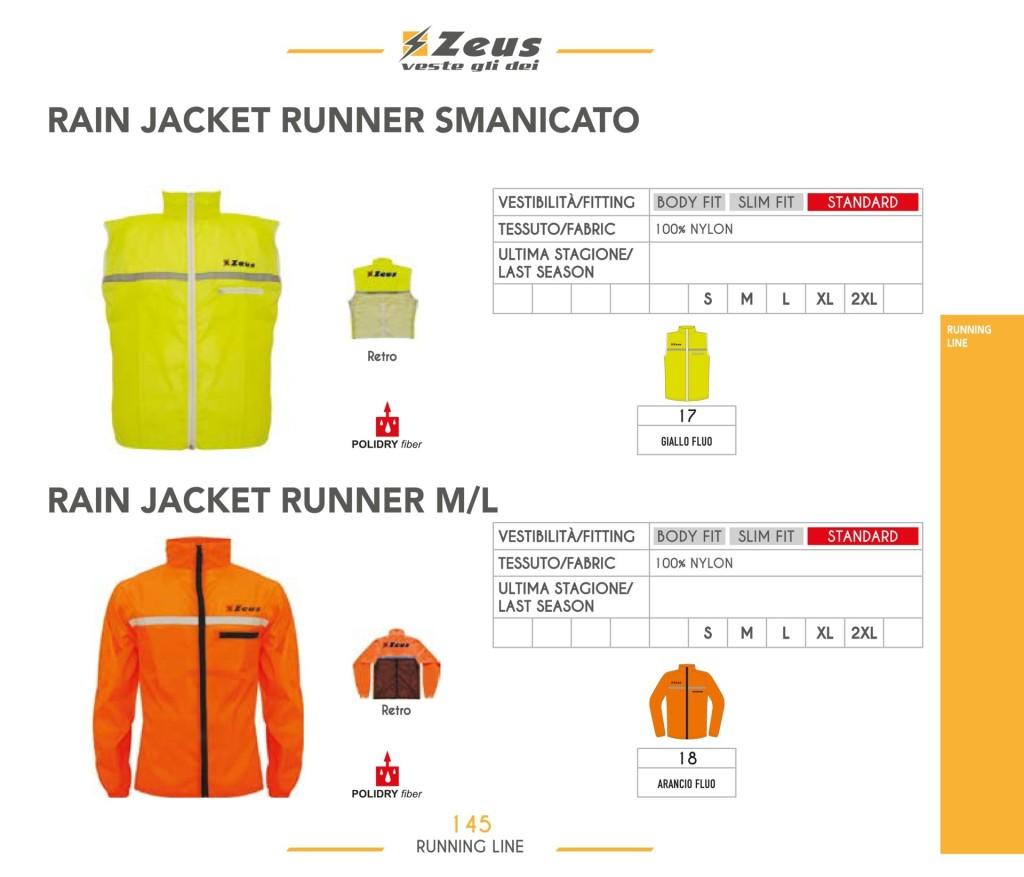 Komplety do biegania Rain Jacket Runner Smanicato i Runner M/L