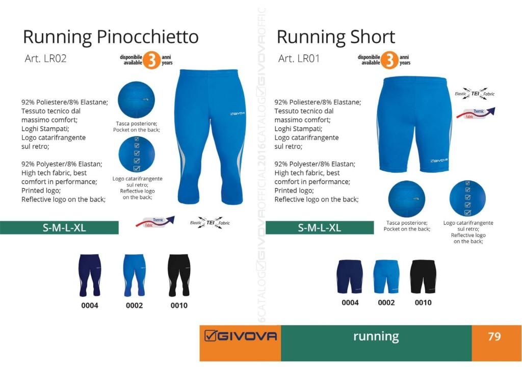 Komplety do biegania Givova Running Pinocchietto i Running Short