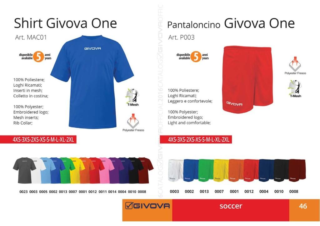 Komplety piłkarskie Shirt Givova One