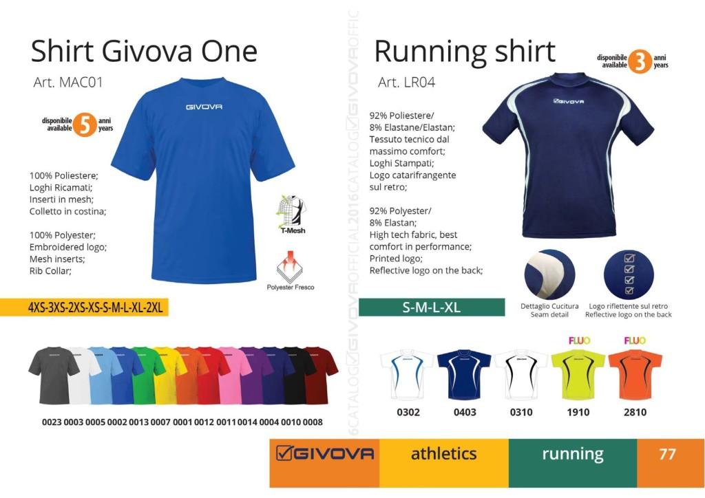 Komplety do biegania Shirt Givova One i Running Shirt