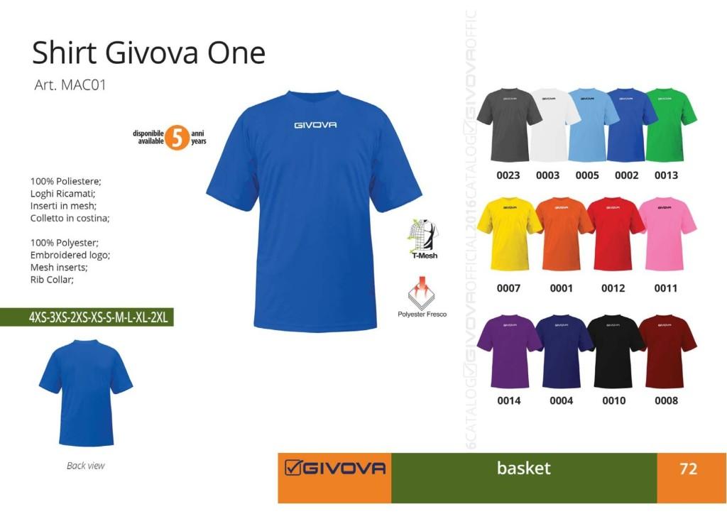 Komplety koszykarskie Shirt Givova One