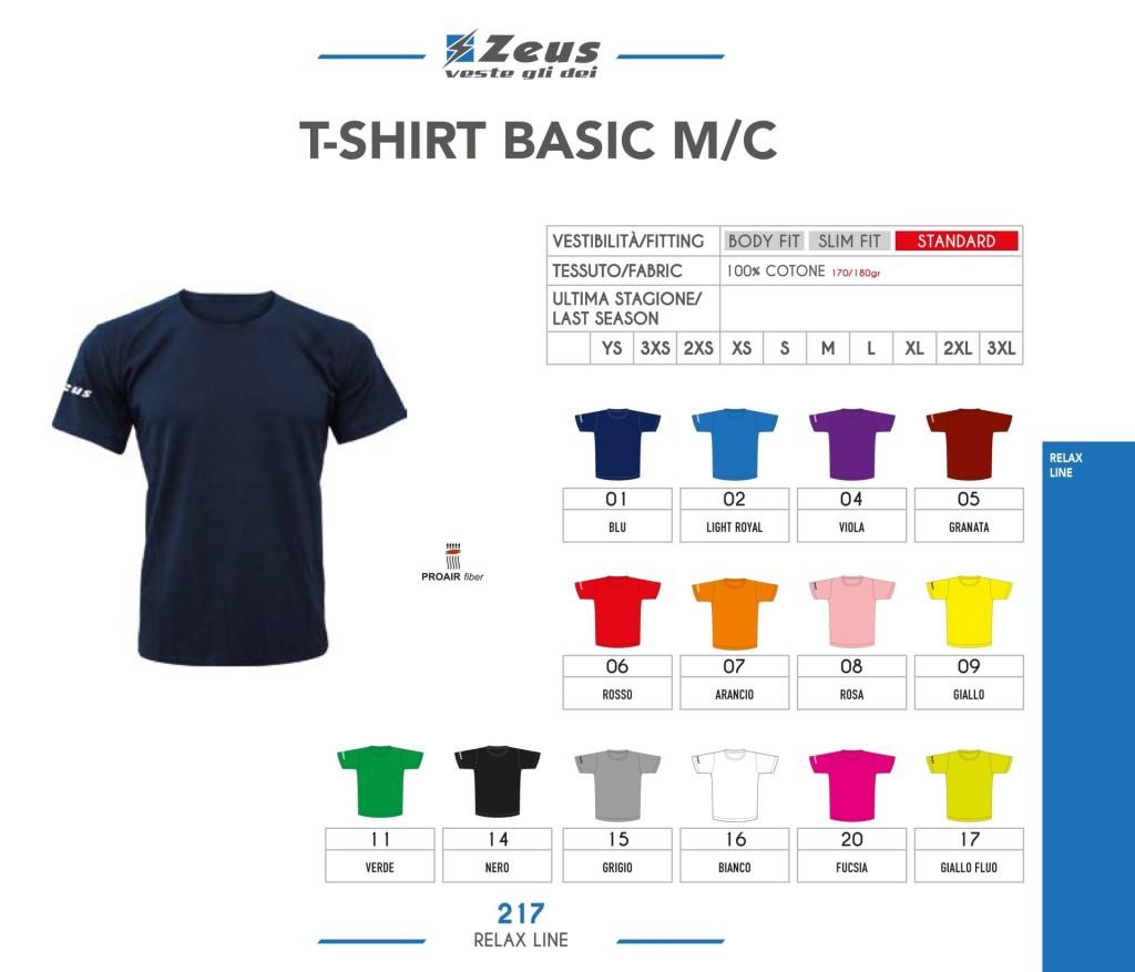 Odzież Zeus Relax T-shirt Basic M/C