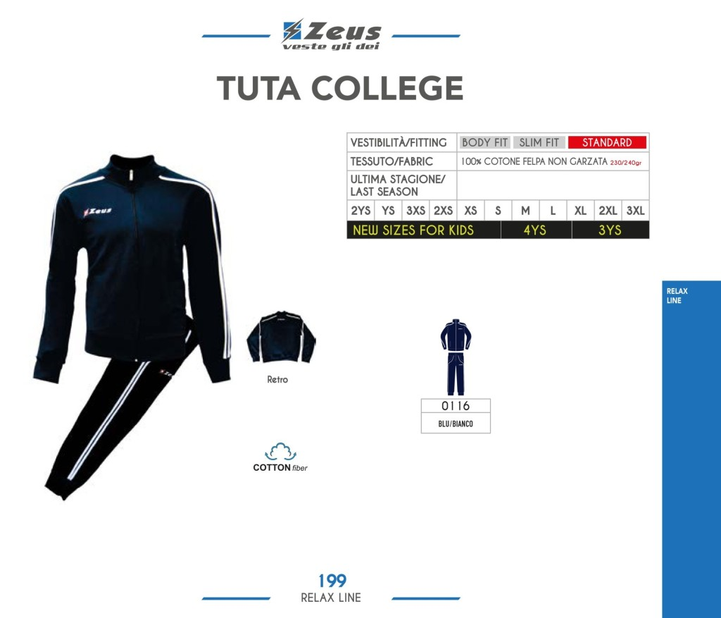 Dresy sportowe Zeus Tuta College