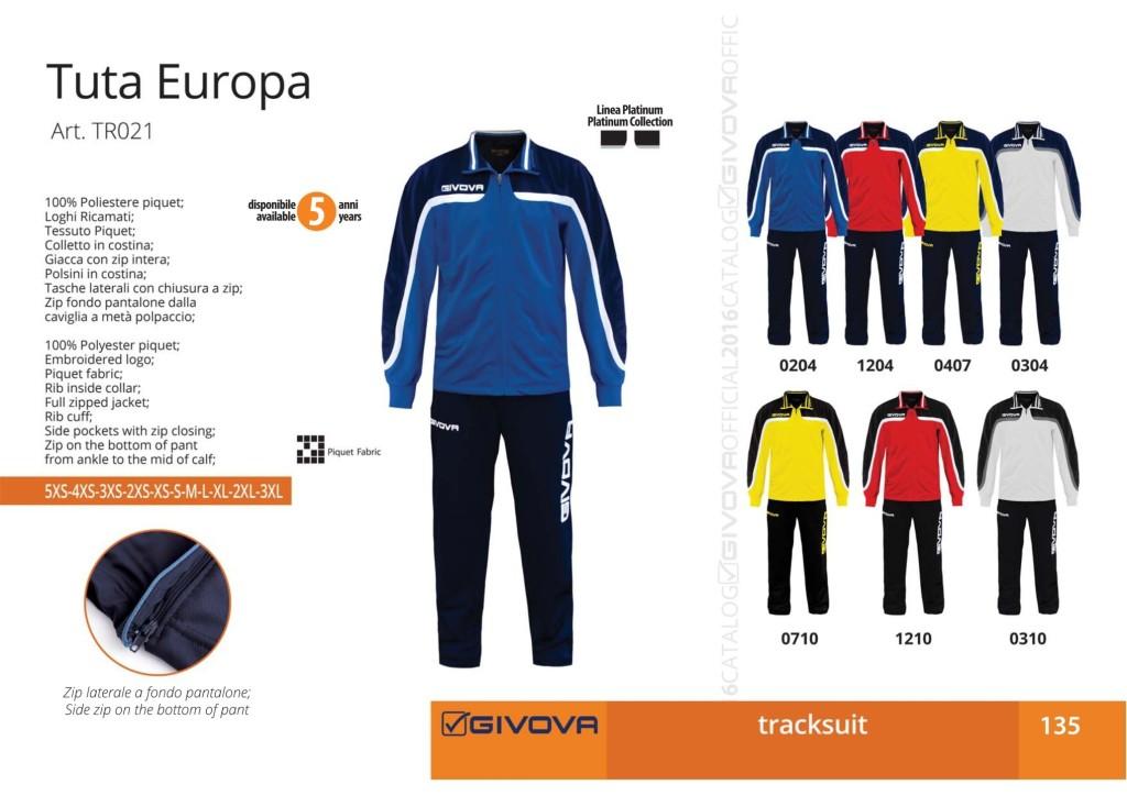 Dresy sportowe Givova Tuta Europa