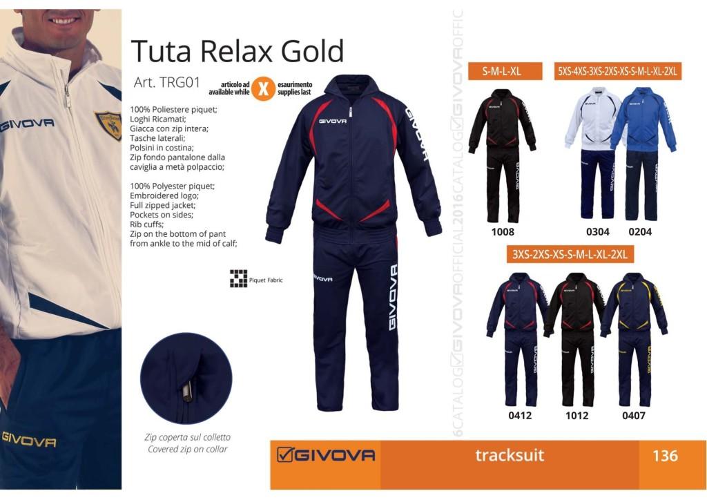 Dresy sportowe Givova Tuta Relax Gold