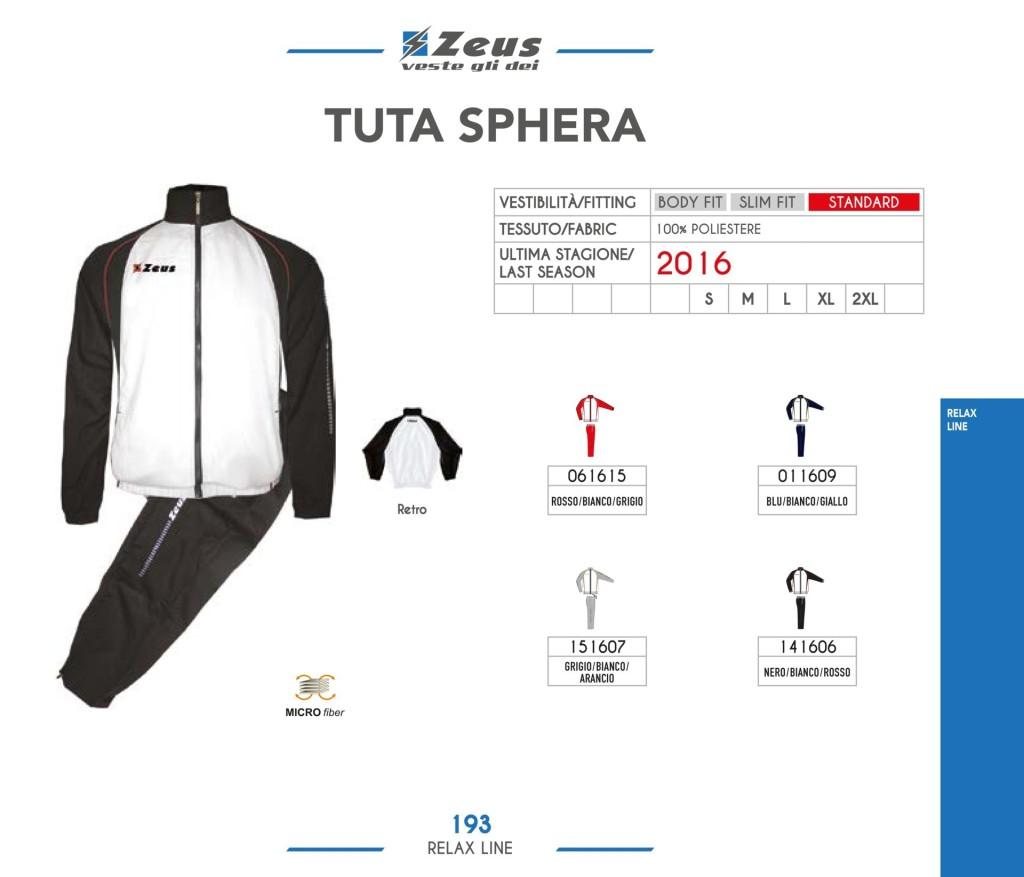 Dresy sportowe Zeus Tuta Sphera