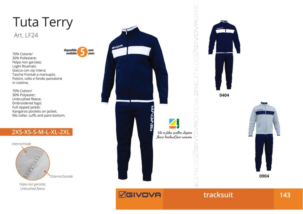 Dresy sportowe Givova Tuta Terry