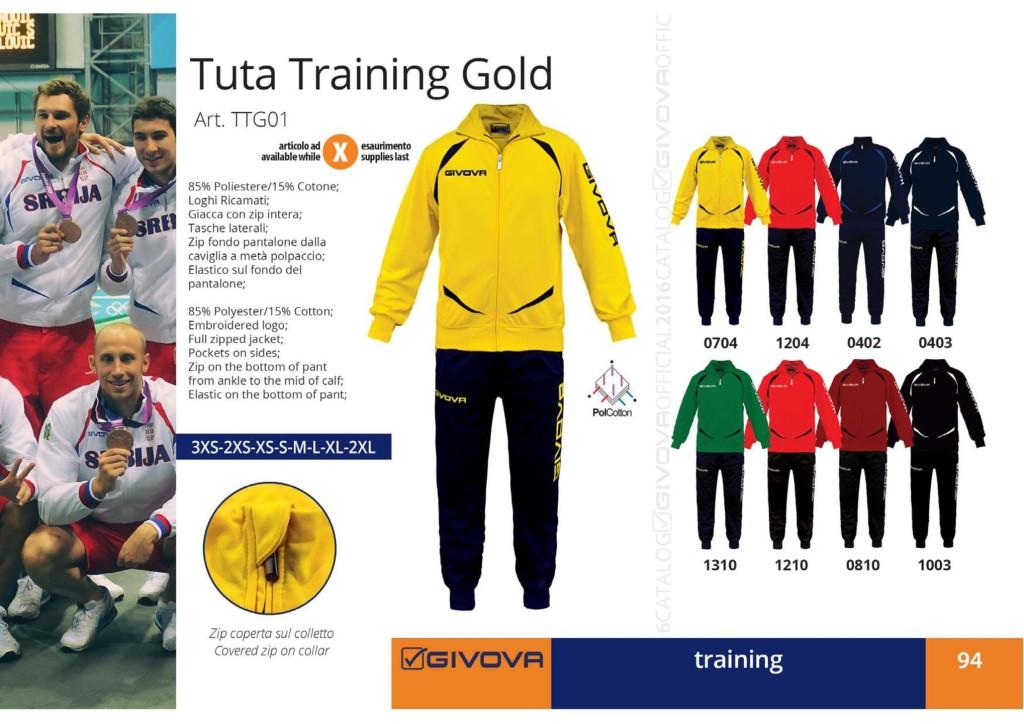 Dresy sportowe Givova Tuta Training Gold