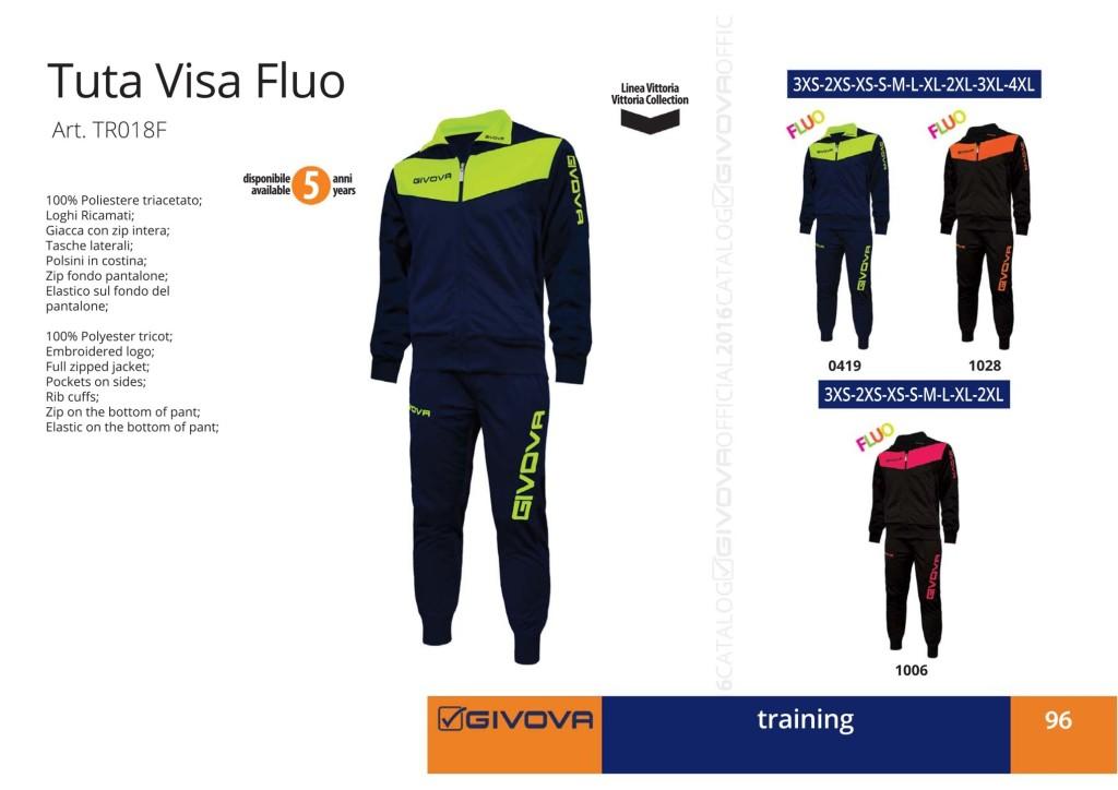 Odzież treningowa Givova Tuta Visa Fluo